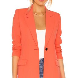 Smythe Tailored Blazer in Tangerine. - size 4 (also in 2) | Revolve Clothing (Global)