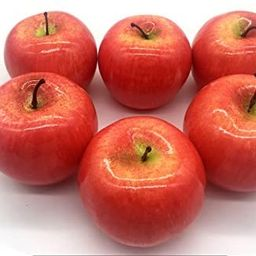 Maggift Artificial Fruits 6 pack,Decorative Fruit (Apple Red) | Amazon (US)