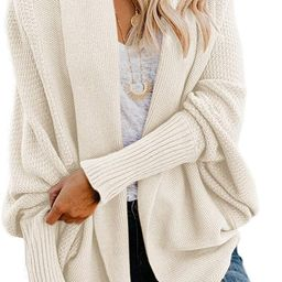 Imily Bela Womens Kimono Batwing Cable Knitted Slouchy Oversized Wrap Cardigan Sweater | Amazon (US)