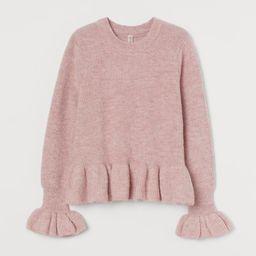 Flounced Knit Sweater | H&M (US)