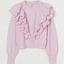 Knit Flounce-detail Sweater | H&M (US)