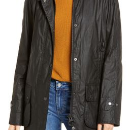 Barbour Goodwood Waxed Cotton Rain Jacket with Faux Shearling Trim   Nordstrom   Nordstrom