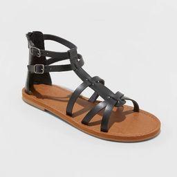 Women's Alva Faux Leather Gladiator Sandals - Universal Thread™   Target