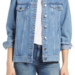Denim Jacket with Removable Faux Shearling Collar | Nordstrom