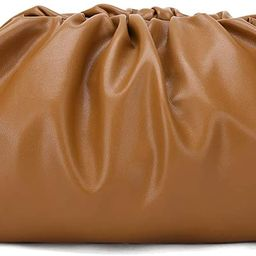 Dumpling Cloud Clutch Purses for Women Crossbody Bags Genuine Leather with Ruched Detail | Amazon (US)