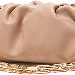 Women's Chain Pouch Bag | Cloud-Shaped Dumpling Clutch Purse | Ruched Chain Link Shoulder Handbag | Amazon (US)