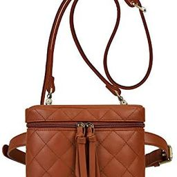 ECOSUSI Fanny Pack Belt Bag for Women Waist Bag Quilted Vegan Leather Crossbody Purse Two-way Bum... | Amazon (US)
