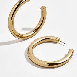 Dalilah Large Tube Hoop Earrings | BaubleBar (US)