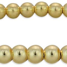 Anela 14kt Gold Filled Bracelet, 3mm Beads, Stretch and Stackable, Hand Made in USA | Amazon (US)
