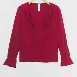 Tally Ruffled Blouse   Anthropologie (US)