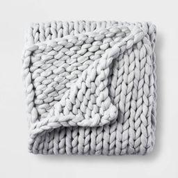 "50"" x 70"" Oversized Chunky Hand Knit Decorative Bed Throw - Casaluna™   Target"