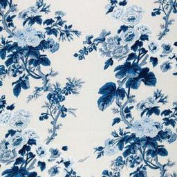 Schumacher Pyne Hollyhock Indigo Fabric   DecoratorsBest
