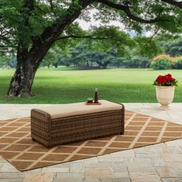Better Homes and Gardens Hawthorne Park Outdoor Storage Ottoman | Walmart (US)