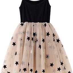 Amazon.com: NNJXD Little Girl Summer Sleeveless Princess Dress, Infant Toddler Princess Party Tul... | Amazon (US)