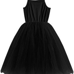 Amazon.com: GSVIBK Baby Girls Tutu Dress Toddler Sleeveless Sunderss Straps Tulle Dress Holiday T... | Amazon (US)