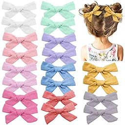 Baby Girls Hair Bows Clips Hair Barrettes Accessory for Babies Infant Toddlers Kids (Light Color ... | Amazon (US)