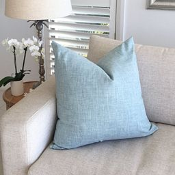 Linen Cushions, Linen Pillow Covers. Spa Blue Linen Cushion Covers, Seafoam Scatter Cushion   Etsy (CAD)