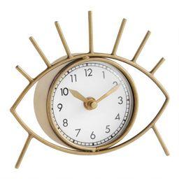 Brushed Gold Eye Clock   World Market