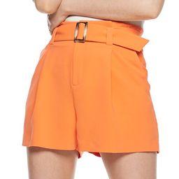 Women's Nine West Paperbag Belted Shorts | Kohl's