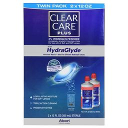 Clear Care Plus Contact Lens Cleaning and Disinfecting Solution, 2 Pack | Walmart (US)