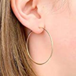 Large Gold Filled Hoop Earrings | Amazon (US)