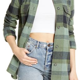 Plaid Flannel Shirt Jacket | Nordstrom