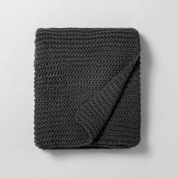 Chunky Knit Throw Blanket Railroad Gray - Hearth & Hand™ with Magnolia | Target