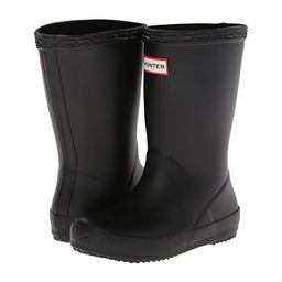 Hunter Kids Original Kids' First Classic Rain Boot (Toddler/Little Kid) (Black) Kids Shoes | Zappos