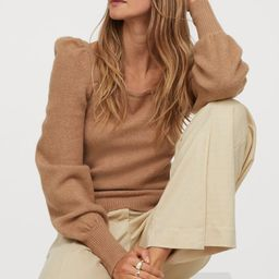 Puff-sleeved Sweater   H&M (US)
