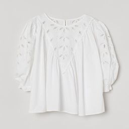 Embroidered Blouse   H&M (US)