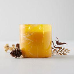 Linnea's Lights Marble Candle, Bourbon Tabac   Terrain