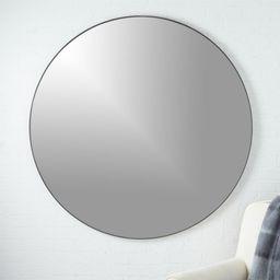 "Infinity Round Black Mirror 48"" + Reviews | CB2 | CB2"