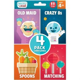Chuckle & Roar 4pk of Classic Card Games - Old Maid, Spoons, Matching and Crazy 8s | Target