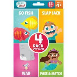 Chuckle & Roar 4pk of Classic Card Games - Go Fish, Slap Jack, War and Pass & Match | Target
