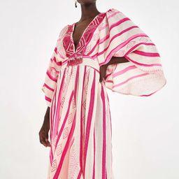 jaquard caftan dress | FarmRio