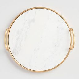 Marble And Gold Serving Tray | World Market