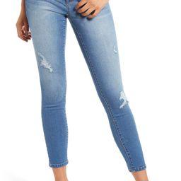 RE:Denim Distressed Ankle Skinny Jeans | Nordstrom