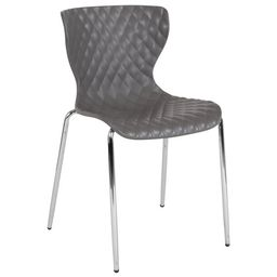 Flash Furniture Lowell Contemporary Design Gray Plastic Stack Chair | Walmart (US)