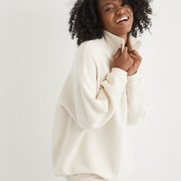 Aerie Good Vibes Corded Oversized Quarter Zip Sweatshirt | American Eagle Outfitters (US & CA)