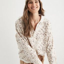 Aerie Good Vibes Oversized Quarter Zip Sweatshirt | American Eagle Outfitters (US & CA)