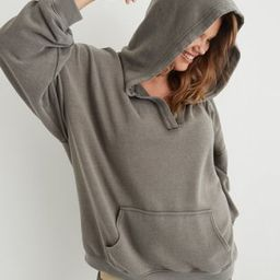 Aerie Happy Henley Hoodie | American Eagle Outfitters (US & CA)