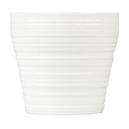 "Mainstays Pottery 8"" White Stripe Ceramic Planter | Walmart (US)"