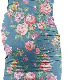 Rnxrbb Women Summer Sleeveless Maternity Dress Pregnancy Tank Scoop Neck Mama Clothes Casual Body... | Amazon (US)