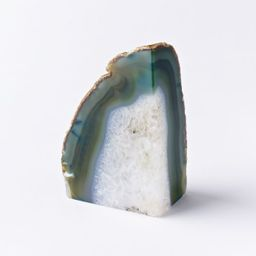 Agate Bookend, Green   West Elm (US)