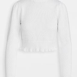 Cropped Ruffle Mock Neck Sweater | Shopbop