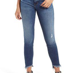 Ellie High Waist Step Hem Skinny Jeans   Nordstrom