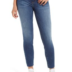 Ellie High Waist Raw Hem Skinny Jeans   Nordstrom