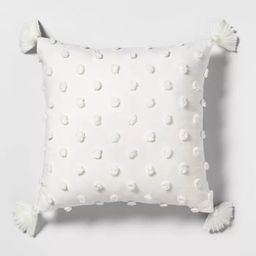 """18"""" x 18"""" Texture Dot Throw Pillow Sour Cream - Hearth & Hand™ with Magnolia 