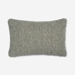 Manon Linen Boucle Lumbar Pillow, Moss | Lulu and Georgia