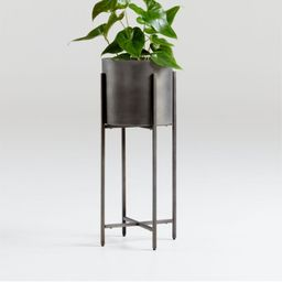 Dundee Bronze Floor Planter with Short Stand + Reviews | Crate and Barrel | Crate & Barrel